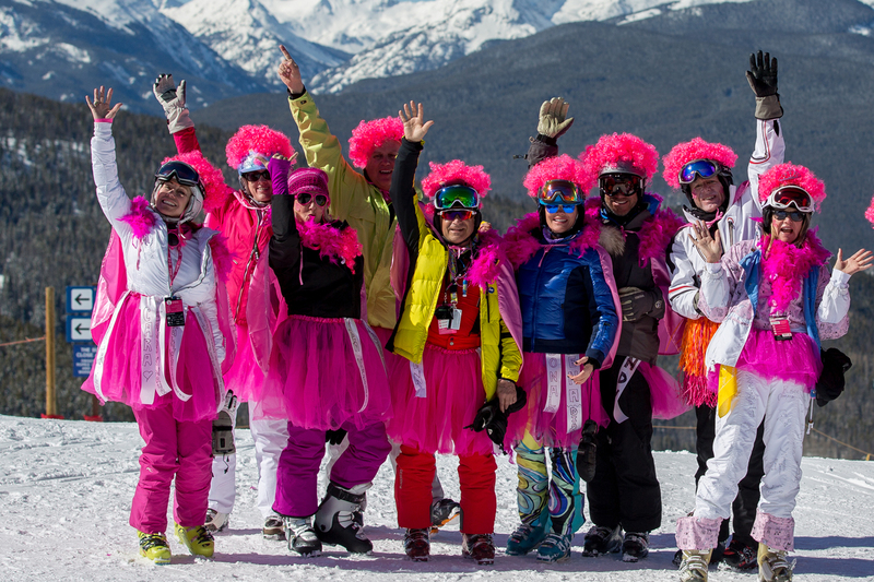 Vail Mountain Hosts World's Biggest Ski Day To Conquer Cancer: Pink Vail 2017